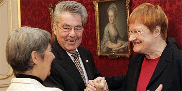 Napolitano und Halonen bei Fischer in Wien