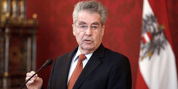 Heinz Fischer liest Strache die Leviten