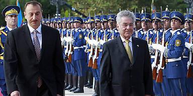Aserbaidschans Präsident Ilham Alijew empfängt BP Heinz Fischer