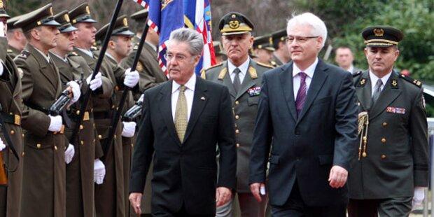 Fischer: Staatsbesuch in Kroatien