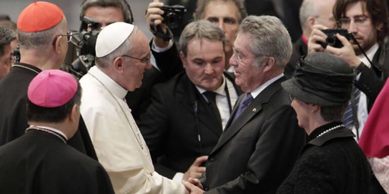 Österreich beim Papst: Fischer gratuliert