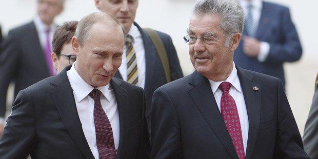 Präsident Fischer besucht Putin