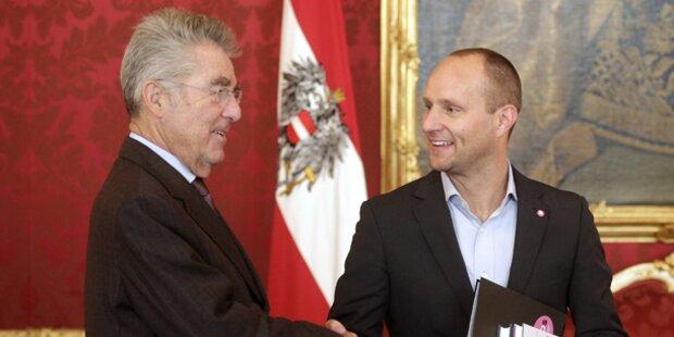 Fischer empfängt NEOS-Chef Strolz