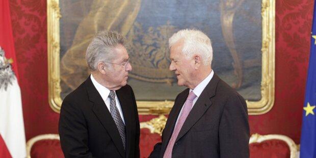 Heinz Fischer empfängt Stronach