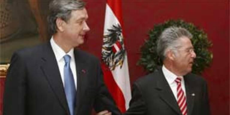 Danilo Türk und Heinz Fischer in der Hofburg