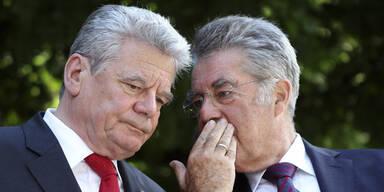 Die Präsidenten Fischer und Gauck im Gespräch