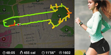 Frau läuft Penisse mit Tracking-App