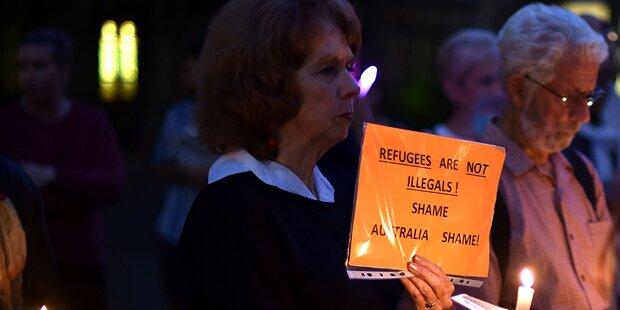 Australien bleibt trotz Selbstverbrennung hart