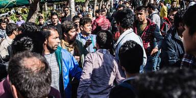 Flüchtlinge Piräus