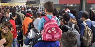 Flüchtlinge Westbahnhof