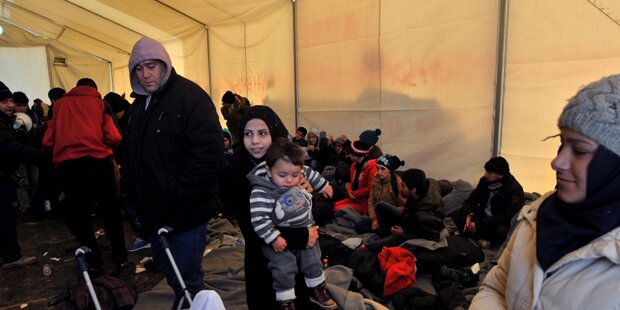 Evakuierung im Transitlager