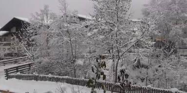 Reichlich Neuschnee in Flachau, Salzburg