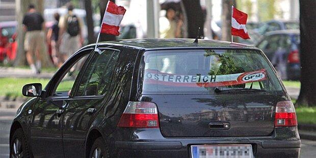 Strafe für Österreich-Flagge am Auto