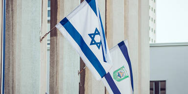 Flaggen Israel Palästina
