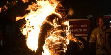 Steirer stand über 5 Minuten in Flammen