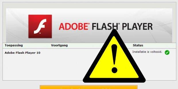 Achtung: Flash-Player sofort deaktivieren