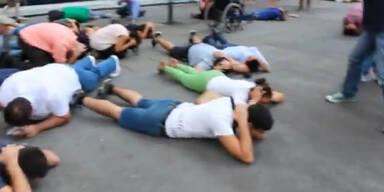 Flashmob gegen Raketen auf Israel