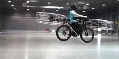 Tschechen entwickeln fliegendes Fahrrad