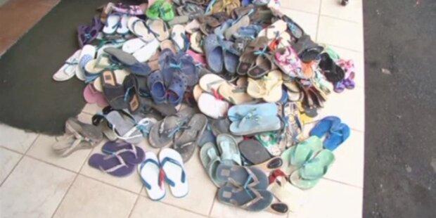 Sandalenproteste: Flip-Flop Dieb schuldig