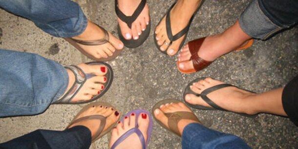 So machen Sie Ihre Füße sandalentauglich