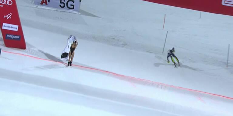 Lauf von Flitzerin gecrasht: So reagiert Ski-Star
