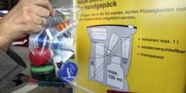 EU streitet um Flüssigkeiten im Handgepäck