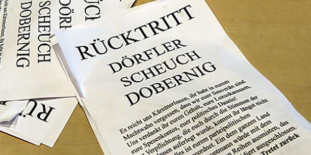 Protest in Klagenfurt - Flugzettel