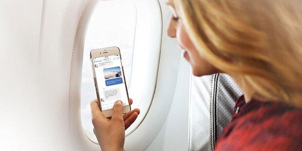 Internet im Flugzeug kommt gut an