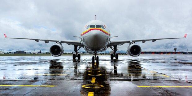 Bombendrohung auf Toilette - Flugzeug durchsucht