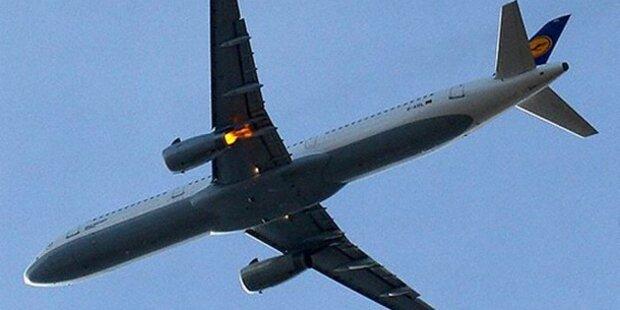Triebwerks-Explosion in Lufthansa-Flieger