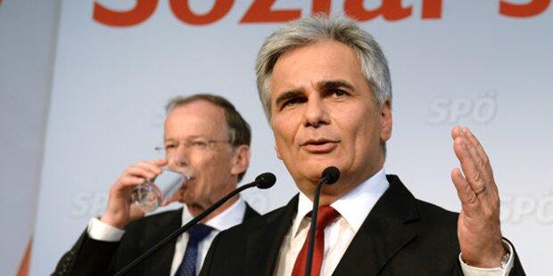 Faymann für Juncker als EU-Chef