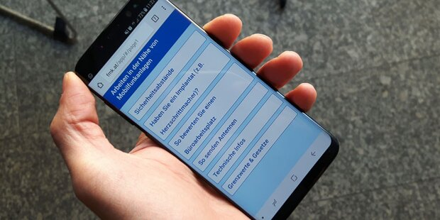 App informiert über Handystrahlung