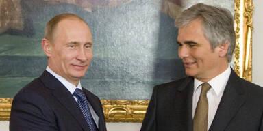 Faymann trifft Putin in Mailand