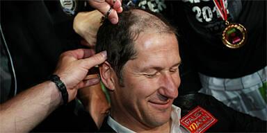 Sturm-Coach Foda musste Haare lassen