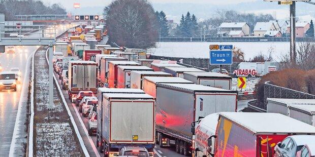 Staus und zäher Verkehr in Salzburg