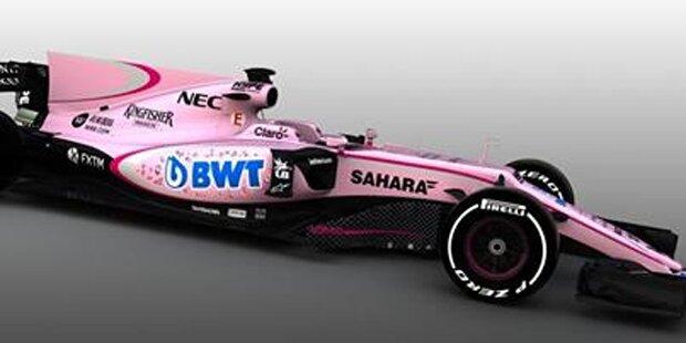 Formel-1-Fahrer spottet über rosa Renner