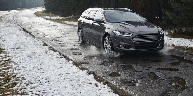 Ford testet geniale Schlagloch-Warnung