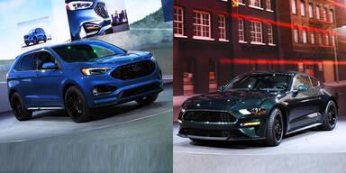 Ford bringt Mustang Bullit und Edge ST