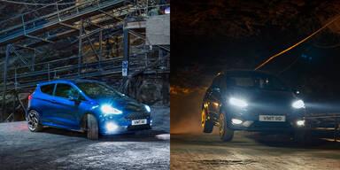 Neuer Fiesta ST rast durch Bergwerk