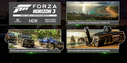 Forza Horizon 3 für Xbox One X optimiert