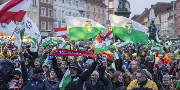 FPÖ-Kundgebung in Graz ohne Zwischenfälle