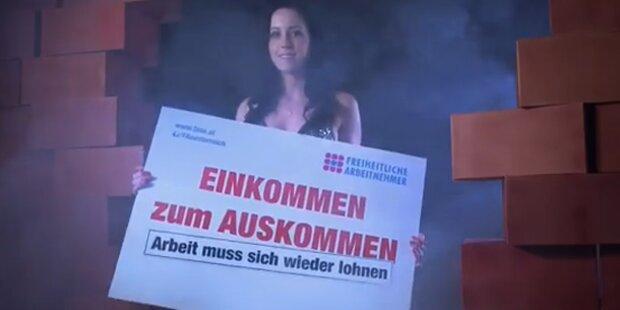 FPÖ wirbt mit halbnackten Frauen