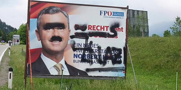 FPÖ-Plakate zerstört: Täter geschnappt