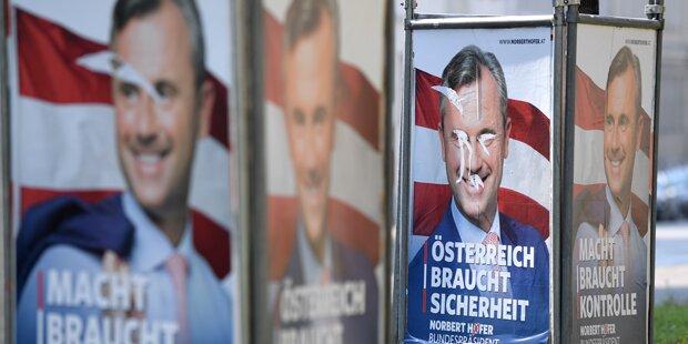 FPÖ-Plakate in Innsbruck zerstört