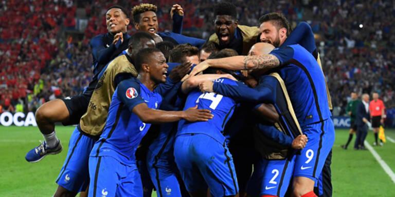 Frankreich steht im Achtelfinale