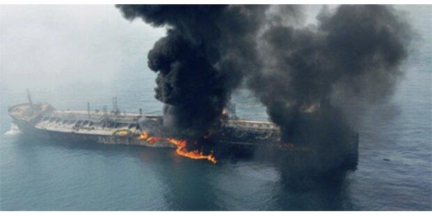 Öltanker brennt vor Dubai