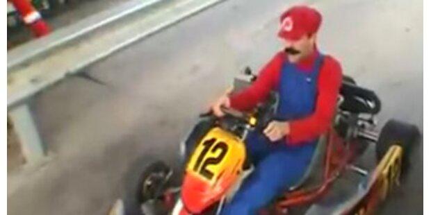 Super Mario macht Frankreichs Straßen unsicher