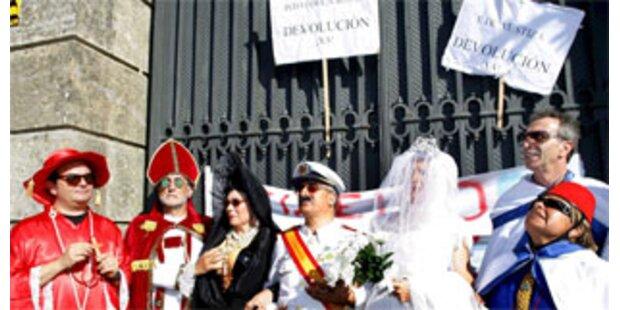 Hochzeitsstreit bei Palast von Ex-Diktator Franco