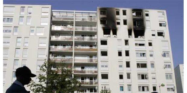 Flammenhölle in Hochhaus