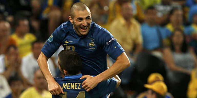 Frankreich fertigt Ukraine 2:0 ab